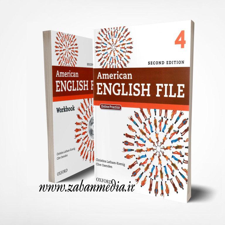 کتاب امریکن انگلیش فایل ویرایش دوم American English File 4