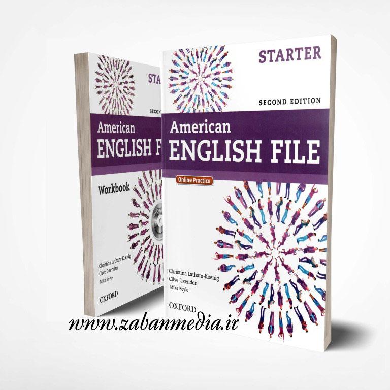 کتاب امریکن انگلیش فایل ویرایش دوم American English File Starter