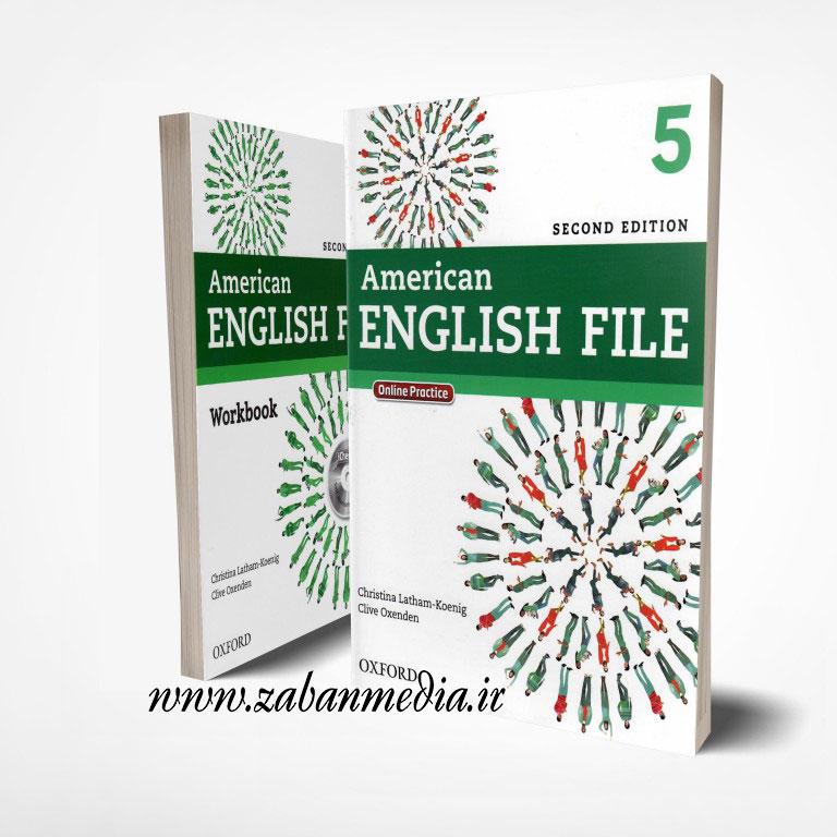 کتاب امریکن انگلیش فایل ویرایش دوم American English Files 5